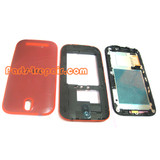 Full Housing Cover for HTC One SV -Red from www.parts4repair.com