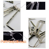 8 in 1 Hex Key Wrench 1.5mm~6mm Metric Key Chain
