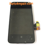 Complete Screen Assembly with Bezel for Nokia Lumia 620 from www.parts4repair.com