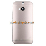 Back Cover with Side Keys for HTC One M8 -Gold from www.parts4repair.com