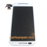 Complete Screen Assembly for Motorola Moto E XT1021 -White from www.parts4repair.com