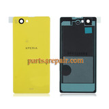Back Cover for Sony Xperia Z1 Compact mini -Yellow from www.parts4repair.com