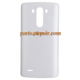 Back Cover for LG G3 D850 (for AT&T) -White from www.parts4repair.com