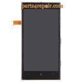 Complete Screen Assembly with Bezel & Side keys for Nokia Lumia 830 -Black