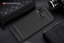 Carbon Fiber TPU Protector Case for Huawei P20 Lite