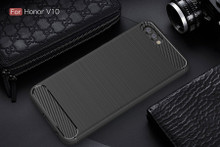 The Black Carbon Fiber Case for Huawei Honor V10