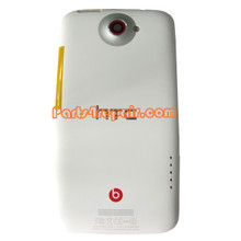 Back Housing Cover with Side Keys for HTC One X +  -White (HTC Version)