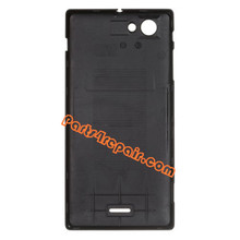 Back Cover for Sony Xperia J ST26I -Black from www.parts4repair.com