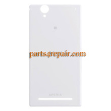 Back Cover for Sony Xperia T2 Ultra XM50H -White from www.parts4repair.com
