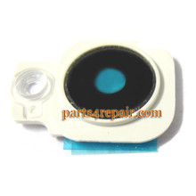 Camera Cover & Lens for HTC One M7 -White from www.parts4repair.com