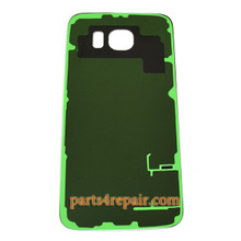 Back Cover  with Adhesive for Samsung Galaxy S6 All Versions -Black