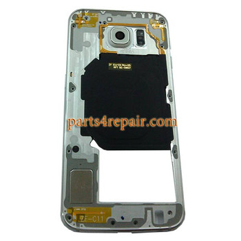 Middle Housing Cover for Samsung Galaxy S6 Duos from www.parts4repair.com