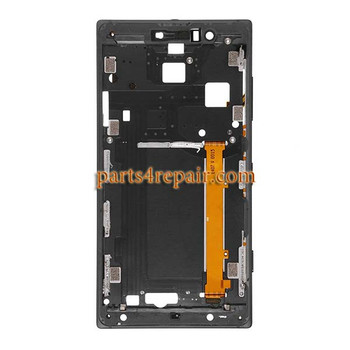 Front Housing Cover with Side Keys for Nokia Lumia 830 -Black