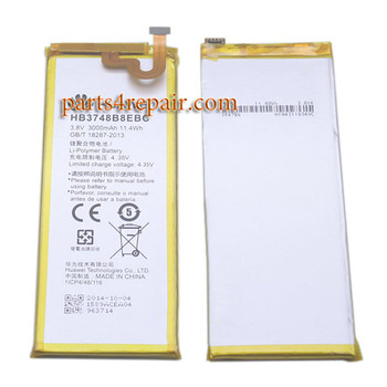 Built-in Battery 3000mAh for Huawei Ascend G7 from www.parts4repair.com