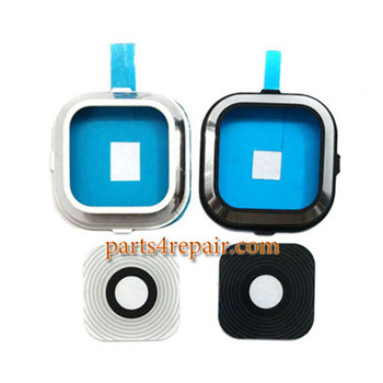 Camera Cover & Lens with Adhesive for Samsung Galaxy A7 SM-A700 -White