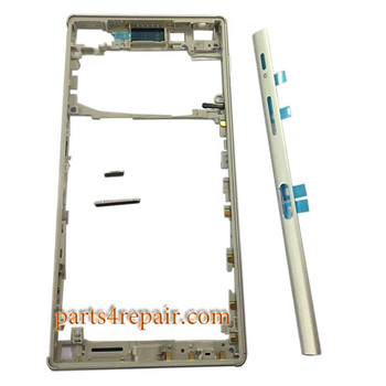 Middle Housing Cover with Small Parts for Sony Xperia Z5 -White