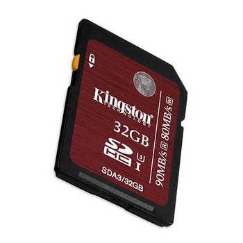 Kingston 32GB SD Memory Card 90MB/S Read 80MB/S Write