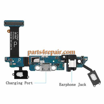 Dock Charging Flex Cable for Samsung Galaxy S6 G920P from www.parts4repair.com