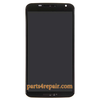 Complete Screen Assembly with Bezel for Motorola Nexus 6 from www.parts4repair.com