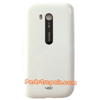 Back Cover with NFC for Nokia Lumia 822 -White from www.parts4repair.com