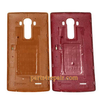 Generic Back Cover with NFC for LG G4 -Leather Red