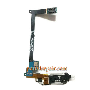 Home Button Flex Cable for Samsung Galaxy Note 4 -Black