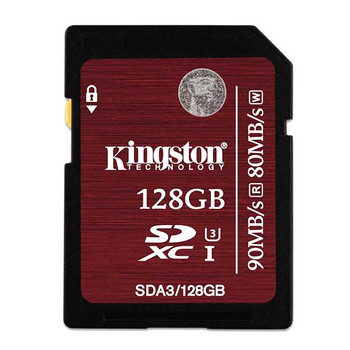 Kingston 128GB SDXC Memory Card 90MB/S Read 80MB/S Write UHS-I Flash Card
