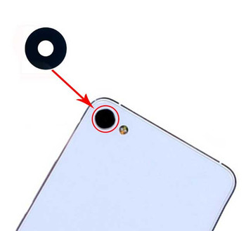 Camera Glass Lens with Adhesive for Meizu U10 from www.parts4repair.com