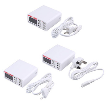 Portable 6 Ports USB Charger with a Digitizer Display for All Phones & Tablets