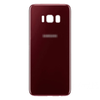Back Glass Cover with Adhesive for Samsung Galaxy S8 All Versions -Red