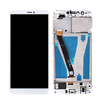 Huawei Y9 2018 LCD Screen and Digitizer Assembly with Frame White