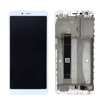 LCD Screen and Digitzer Assembly with Bezel for Asus Zenfone Max Plus ZB570TL White
