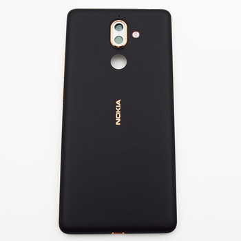 Nokia 7 Plus Back Housing with Side Keys Black