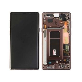 Samsung Note 9 LCD Screen Digitizer Assembly with Frame Gold