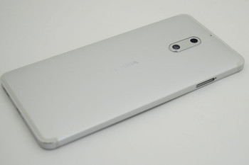 Nokia 6 Back Housing Cover with Side Keys -Silver