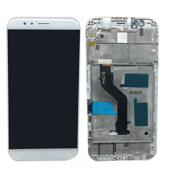 Complete Screen Assembly with Frame for Huawei G8 White   Parts4Repair.com