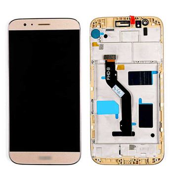 Complete Screen Assembly with Frame for Huawei G8 Gold   Parts4Repair.com