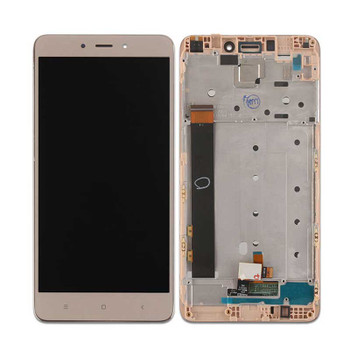 Complete Screen Assembly with Frame for Xiaomi Redmi Note 4 MTK/ 4X 4GB MTK Gold | Parts4Repair.com