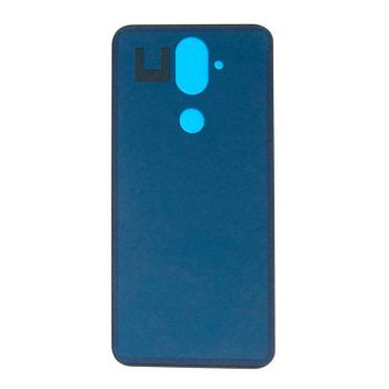 Nokia 8.1 X7 Back Glass with Adhesive Black | Parts4Repair.com