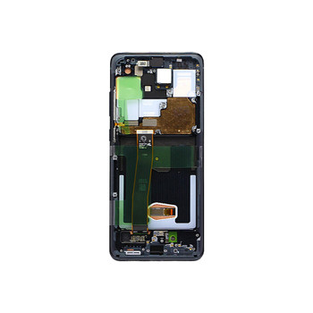LCD Screen Assembly with Frame for Samsung Galaxy S20 Ultra Black | PartsRepair.com
