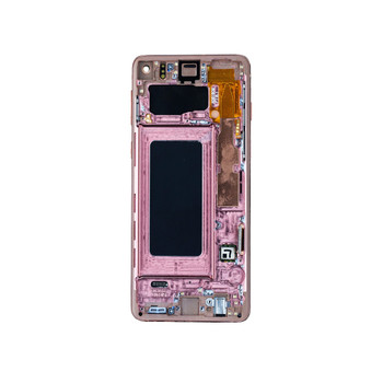 Samsung Galaxy S10 LCD Screen Digitizer Assembly with Frame -Pink