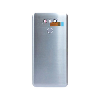 Back Housing Cover with Fingerprint Flex for LG G6 Silver | Parts4Repair.com