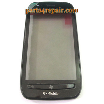 Nokia Lumia 710 Front Panel Glass Touch Screen with Digitizer -Black from www.parts4repair.com