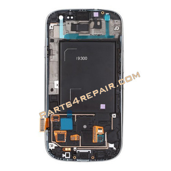 Complete Screen Assembly with Bezel for Samsung I9300 Galaxy S III -White