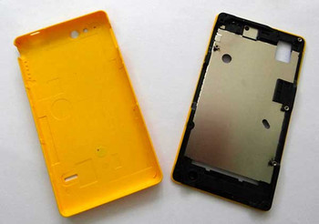 Sony Xperia go ST27i Battery Cover + Front Cover -Yellow