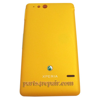 Battery Cover with Side keys for Sony Xperia go ST27i -Yellow