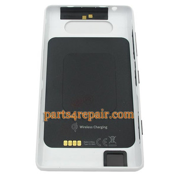 Back Cover with NFC for Nokia Lumia 820 -White