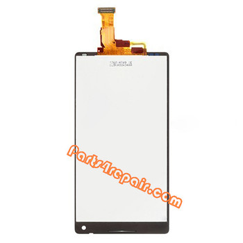 Complete Screen Assembly for Sony Xperia ZL L35H (Used) -Black