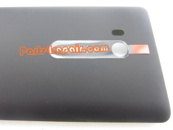 Back Cover for Nokia Lumia 810 (T-Mobile) without Wireless Charging Coil -Black