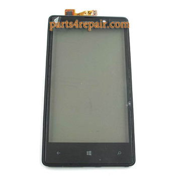 Touch Screen with Bezel for Nokia Lumia 820 (at&t) from www.parts4repair.com